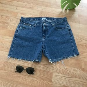 Calvin Klein Denim Jean Cutoff Shorts